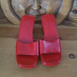 VIA SPIGA sexy Red Patent Leather Slip on Sandal 8